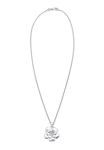 Elli Germany silver Flower Zirconia 925 Sterling Silver Necklacce EL474AC0S1YUMY_1