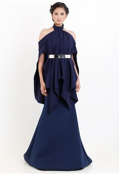 [PRE-ORDER] Turtle Necked Cape Gown