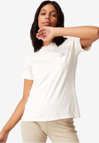Cotton On white Classic Pop Culture T-Shirt AA2DDAAF73FFB7GS_1