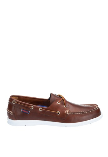 Sebago brown Litesides Two Eye Boat Shoe SE328SH63QDWPH_1