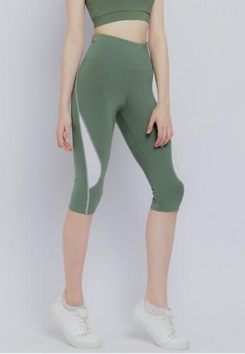 Corenation Active green Arabelle Capri - Green Olive / White 64E78AA0A4F849GS_1