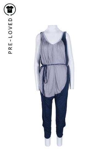 Tsumori Chisato blue Pre-Loved tsumori chisato Blue Draped Sleeveless Jumpsuit D0B65AA0A1B1D9GS_1
