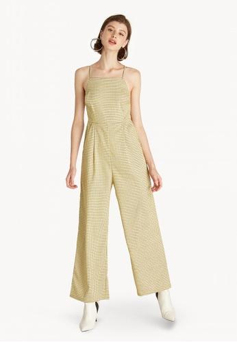 be786594c5f Buy Pomelo Cross Back Tie Jumpsuit - Yellow Online on ZALORA Singapore
