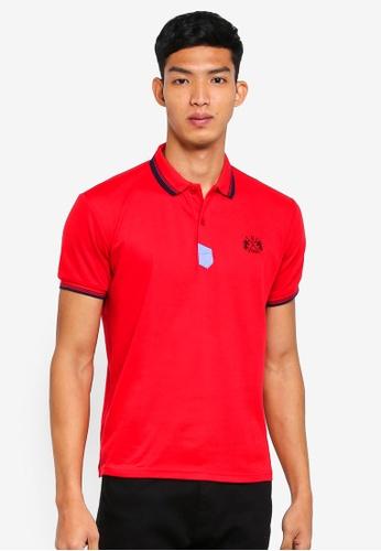 Fidelio 紅色 簡約短袖POLO衫 9BD7FAA41BD932GS_1