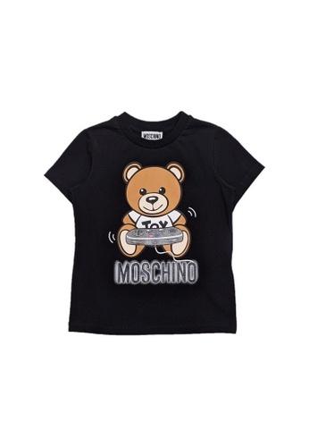 MOSCHINO BABY KID TEEN black MOSCHINO KIDS T-SHIRT BB0ECKA136EF2FGS_1
