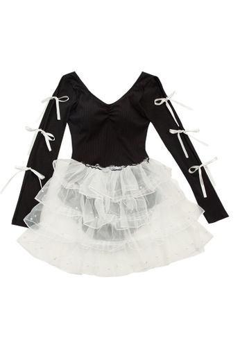 ZITIQUE black Women's Cute Long Sleeve One-piece Swimsuit - Black 9D9DEUS7F85708GS_1