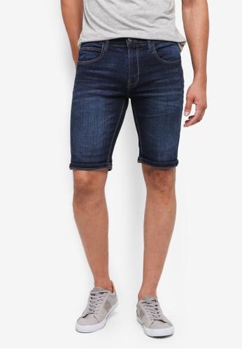 Indicode Jeans 藍色 休閒牛仔短褲 9015AAAB242DC7GS_1
