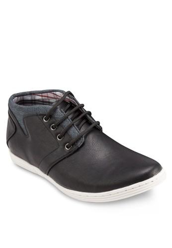esprit 台北混合材質繫帶踝靴, 鞋, 鞋