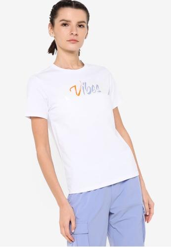 361° white Cross Training Short Sleeve T-shirt E11F8AA156AB13GS_1