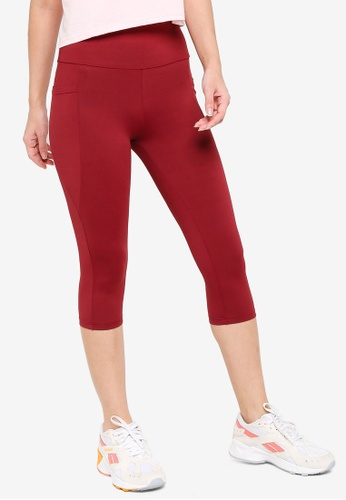 ZALORA ACTIVE red Yoga Tights With Pockets FE3D8AA702EC30GS_1