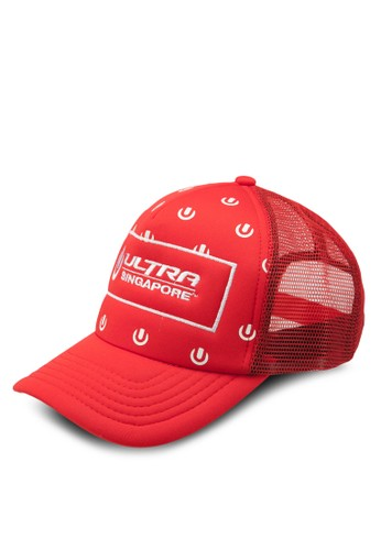 Ultra AOP 刺繡文字鴨舌帽, 飾品配件, esprit home 台灣飾品配件