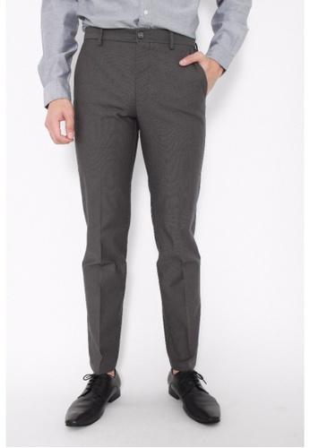 Dockers grey Dockers Signature Stretch Khaki Slim Pants Burma Grey DO282AA0FW0OSG_1