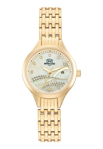 Roscani gold Roscani Leyla E18 (Mother of Pearl Dial + WR 5ATM) Gold Bracelet Women Watch F709DACC99655EGS_1