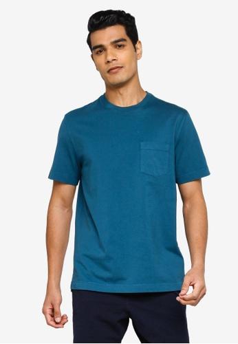 Banana Republic blue Authentic Gmt Dye Pocket Crew Tee 12855AA75674EAGS_1