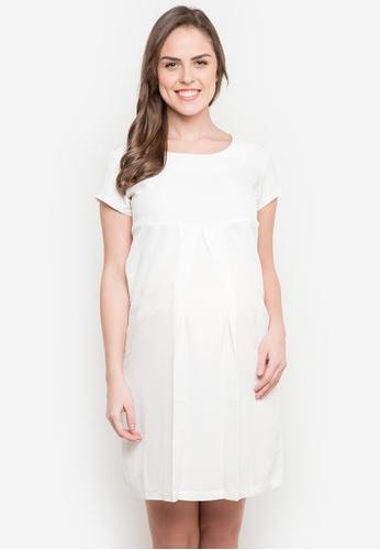 BUNTIS white Eunice Maternity Dress BU698AA0JX8XPH_1