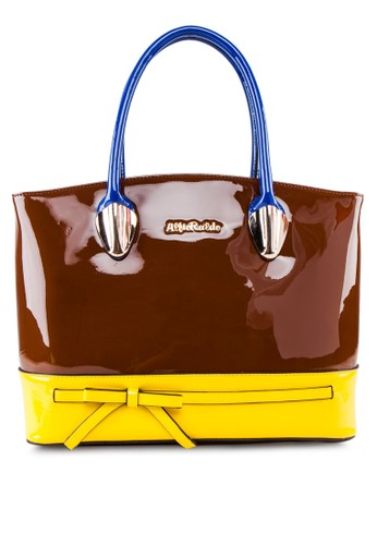 雙色漆皮esprit taiwan手提包, 包, 飾品配件