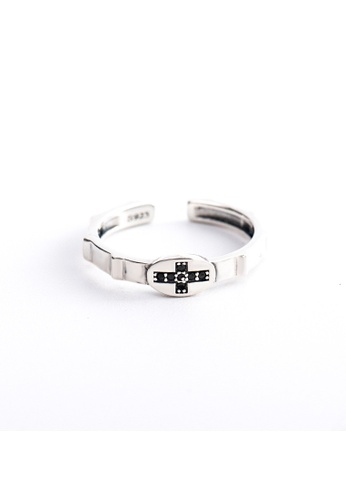 A-Excellence silver Premium S925 Sliver Geometric Ring D9108ACEFABB5DGS_1