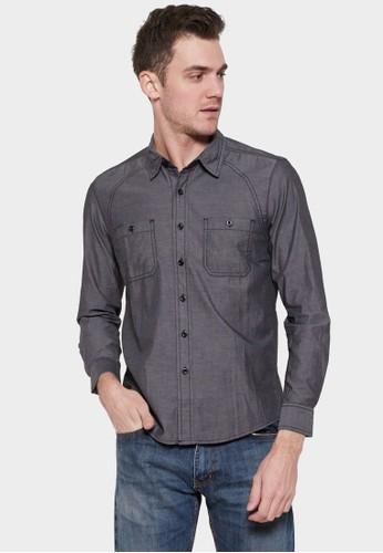 NEXT GEN grey NEXT GEN long Sleeve Solid Shirt 0052 DD208AA96EEB94GS_1