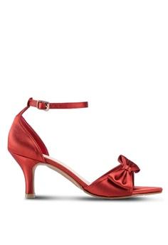 29d402a5357 DMK red Side Bow Heel Sandals 9E184SH8DADD41GS 1