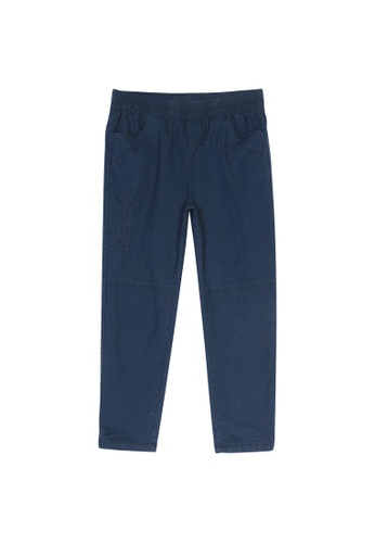 Its Me navy Casual Elastic Waist Trousers 955AEAAF0D2163GS_1