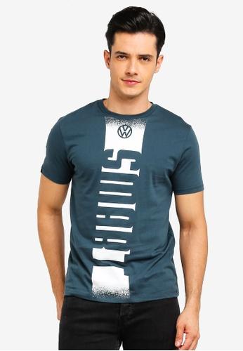 Volkswagen 藍色 品牌印花T恤 116AAAAD467733GS_1