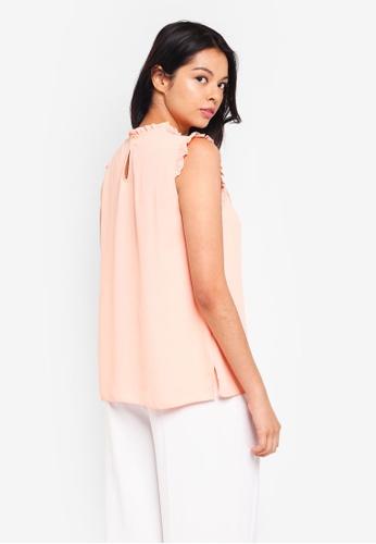 b53ed68475eaa5 Buy Dorothy Perkins Orange Lace Yoke Top Online