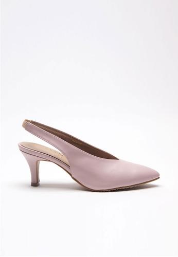 Emelyn pink Charline Slingback Heels ADE83SH7F064A6GS_1