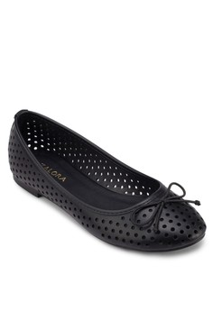 Perforated Bow Ballerinas