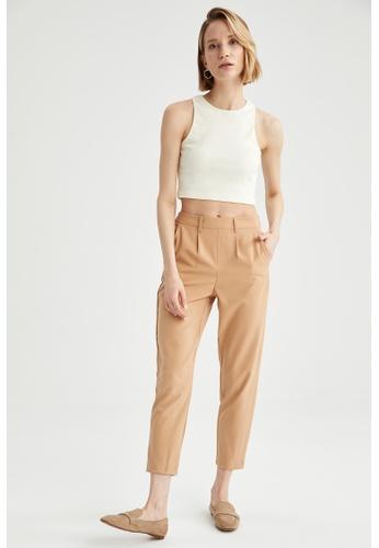 DeFacto brown Woman Woven Trouser 513D4AA792A165GS_1