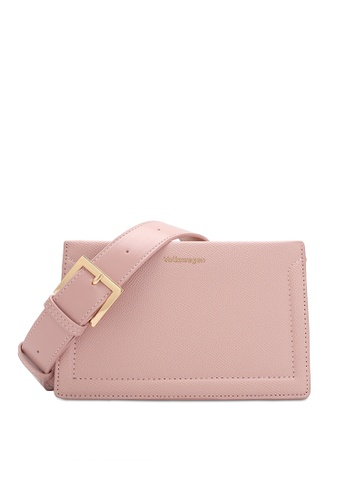 Volkswagen pink Faux Leather Sling Bag 8846AACFE732B8GS_1
