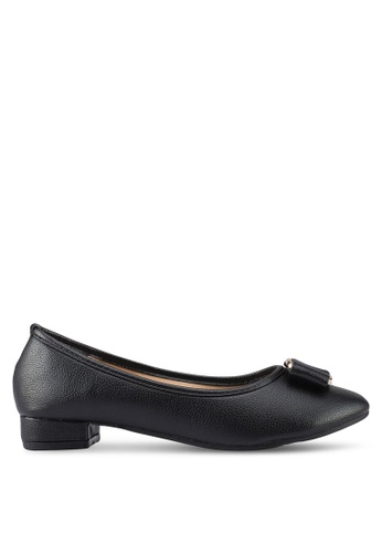 Mimosa black Bow Low Heels 73669SH555AC1CGS_1