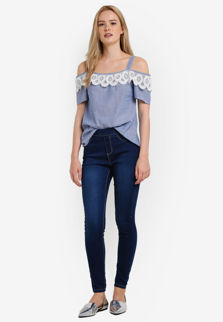Authentic Jeggings Dorothy Perkins Indigo Indigo Eden AnAqa0WE