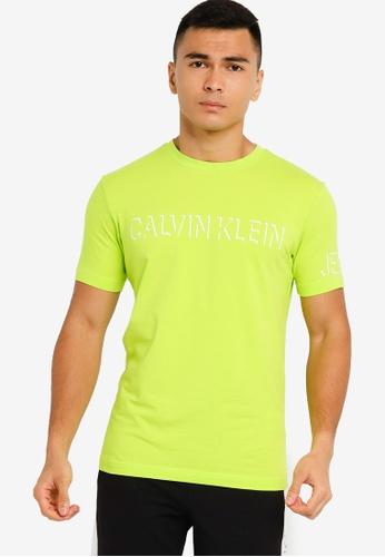 Calvin Klein green Shadow Logo Tee - CK Jeans B6027AAF92090DGS_1