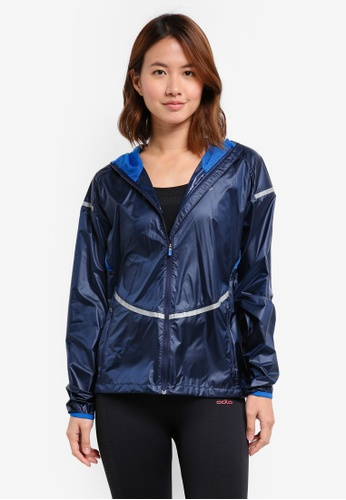 Odlo blue and navy Zeroweight Jacket 44D9FAA5CE01F3GS_1