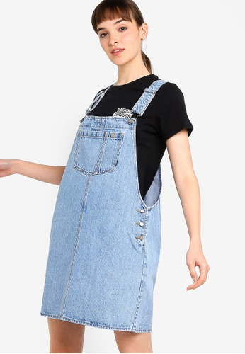 e85cfc8f22c Shop Dr Denim Eir Dungaree Dress Online on ZALORA Philippines