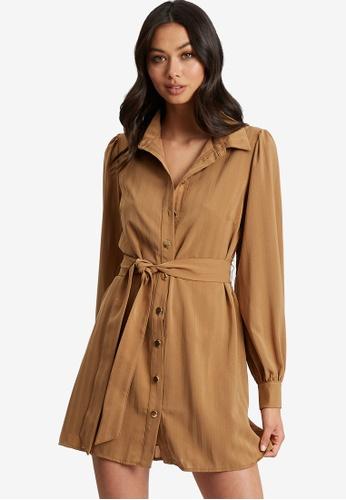 BWLDR brown Sondra Shirt Dress C3180AA6952E86GS_1