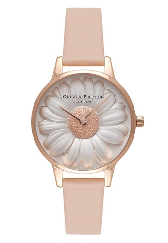 60ef2f73b797 Olivia Burton gold 3D DAISY Rose-Gold 30 mm Women s Watch 48B0EAC24BACCAGS 1