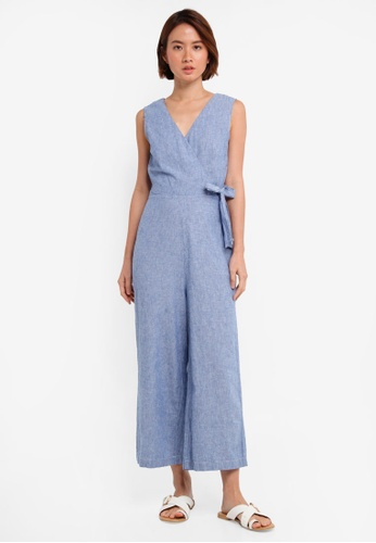37404cc3433 Buy WAREHOUSE Stripe Wrap Jumpsuit