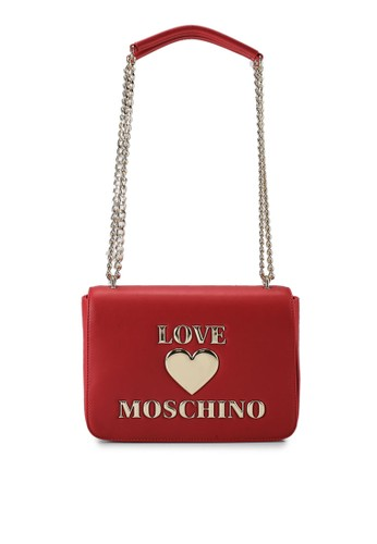 Love Moschino red Love Logo Chain Shoulder Bag BBC13ACF00ECA0GS_1