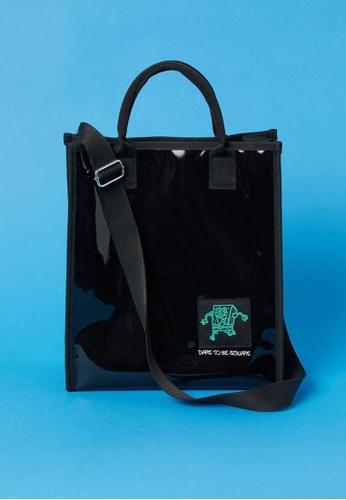 H&M black Patent Shopper Bag 2BECBAC3F1E8E5GS_1