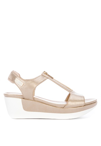 1592a40f22f9 Shop Kenneth Cole Pepea T Strap Wedge Sandals Online on ZALORA Philippines