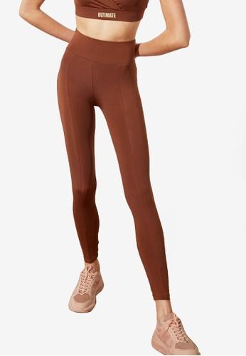 Trendyol brown High Waist Sports Leggings 1BC9CAA9EE2F65GS_1