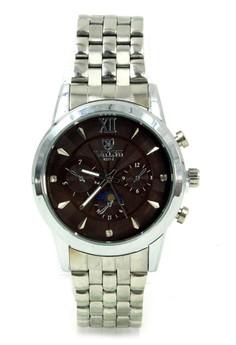 Valia Hayden Unisex Brown Stainless Steel Strap Watch 8221-2