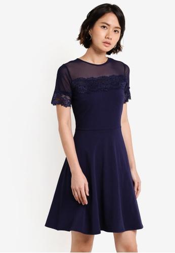 Dorothy Perkins navy Navy Mesh And Lace Dress DO816AA29UVIMY_1