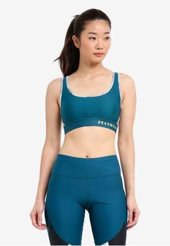 Under Armour green Armour Mid Crossback Sports Bra UN337US0SU68MY_1