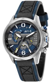 58be888de0 AVI-8 blue AVI-8 Men s Genuine Leather Strap Watch - AV-4056