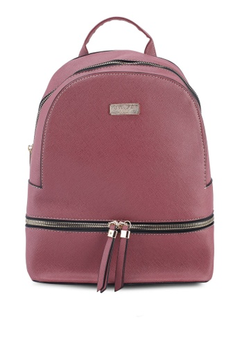 b644bfd81bf3 Buy Unisa Saffiano Effect Backpack Online on ZALORA Singapore