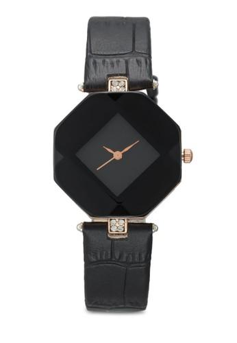 棱esprit outlet 高雄柱體仿皮鱷魚紋手錶, 錶類, 時尚型