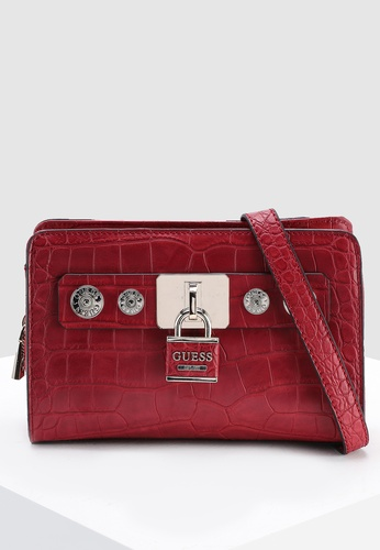 059f7f1244 Guess red Anne Marie Crossbody Zip Top Bag 8B363AC445C04CGS 1