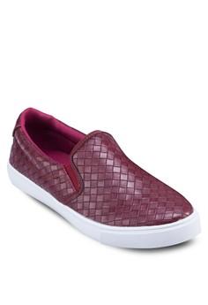 Weave Patterned Slip On Sneaker
